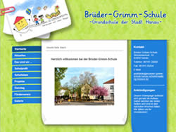 neue website f r die br der grimm schule in hanau. Black Bedroom Furniture Sets. Home Design Ideas