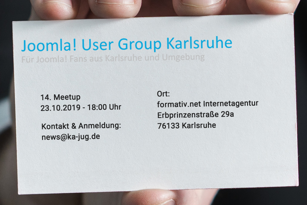 14. Meetup - Joomla! User Group Karlsruhe
